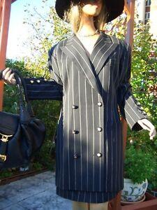 Gessato 44 Blazer Affari Couture 40 Np1200 Costume Luxury Escada 42 d'oro q407FWqtn