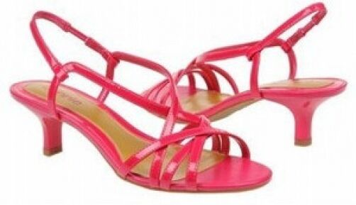 Connie pinklie pink fuchsia patent sandals 9.5 Med NEW