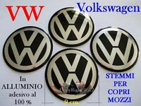 n.4 VOLKSWAGEN VW NERO Coprimozzi Tappi Cerchi Wheel 9 cm 90 mm GOLF POLO BEETLE