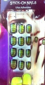 FING-039-RS-Teen-Girls-Halloween-20-Press-Stick-On-Nails-Sticker-Tabs-6-Choices