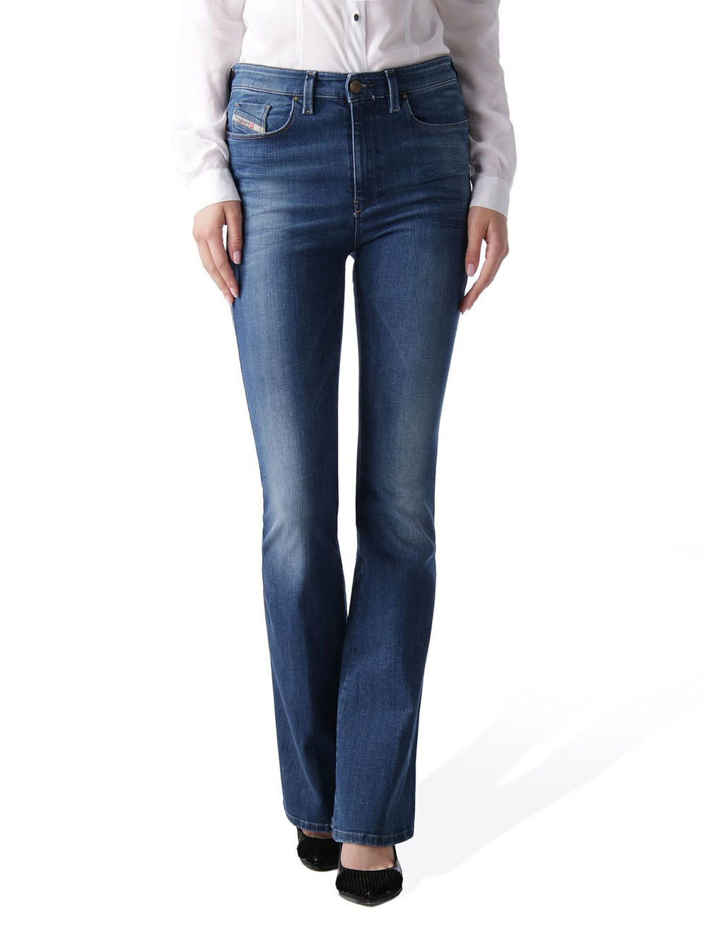 Diesel Skinzee-Flare 0826F Stretch Women's Jeans Trousers Flares
