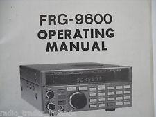 Yaesu frg-9600 (autentica manuale di istruzioni solo)......... radio_trader_ireland.
