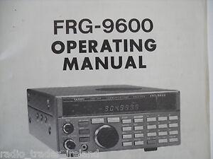 yaesu frg 9600 genuine instruction manual only rh ebay ie