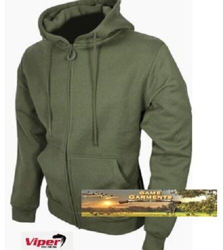 Men/'s Viper Tactical Zipped Hoodie in Khaki Green Shooting Hunting Fishing