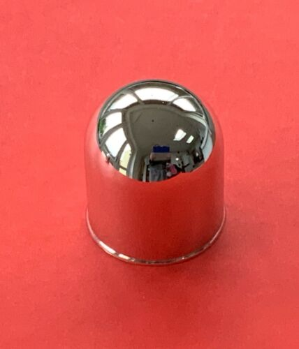 2 x Gancio a Sfera in Plastica Cromata Copertura//Cap//protezione 50mm per Collo Di Cigno Flangia NUOVO