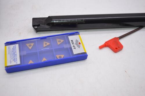 TCMT110204-HM YBC251× 10pcs S20R-STWCR11 Lathe Turning Tool Boring Bar Holder