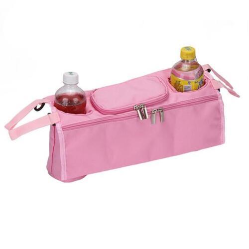 Stroller Pram Pushchair Baby Organiser Mummy Bag Storage Cup Bottle Holder JD