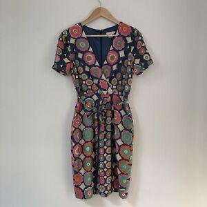 Collette-Dinnigan-Women-039-s-Floral-Silk-Dress-Size-XS-Spring-Wedding-Cocktail
