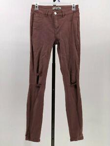 34b73754d Image is loading Refuge-colored-denim-distressed-skinny-jegging-jeans-dark-