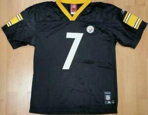 ca48a6b4928 Image is loading NFL-Pittsburgh-Steelers-Reebok-Ben-Roethlisberger-7-Youth-