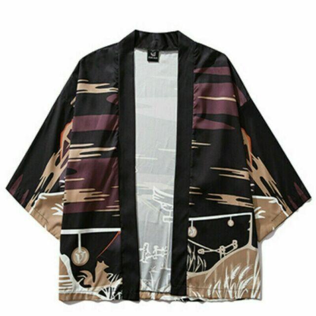 Herren Baumwollhemd Jacke Strickjacke Mantel Kimono Ethnisch Chinese Kung Fu Neu