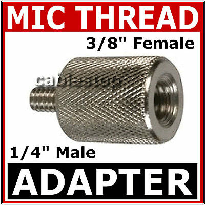"Mic Stand 3/8"" FEMALE to 1/4"" MALE Thread Adapter Microphone Camera Adaptor"