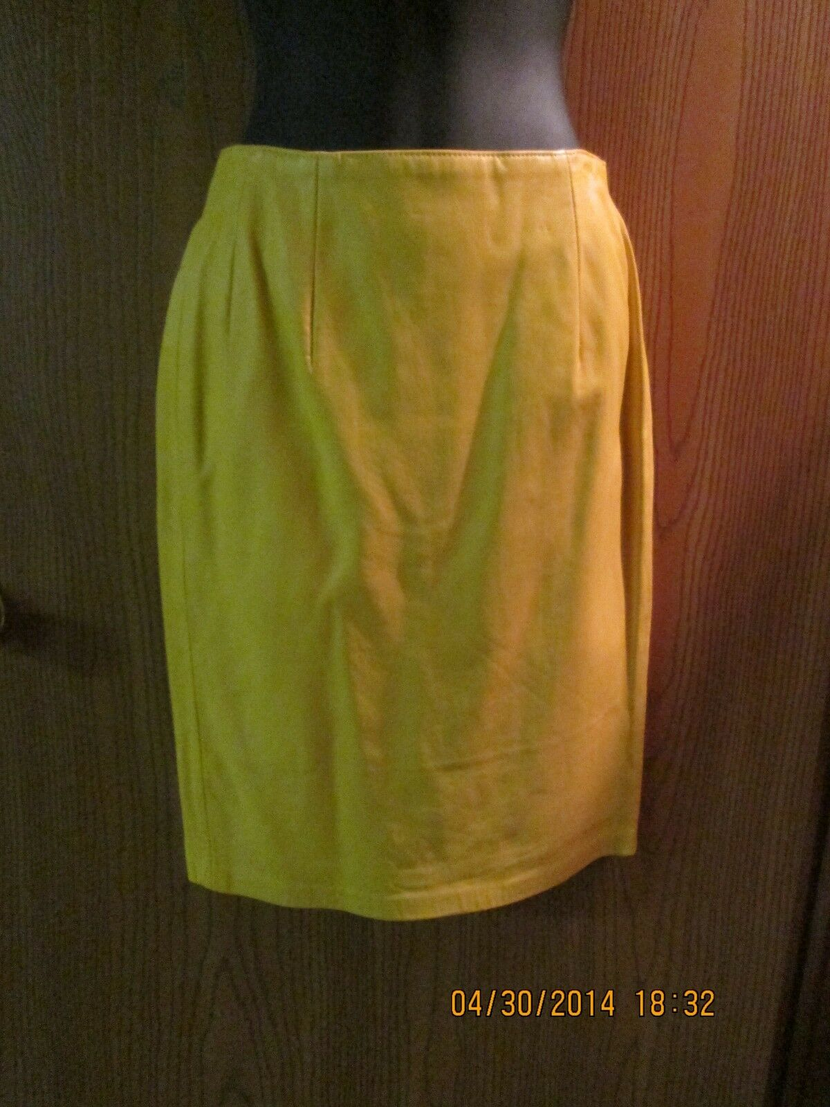 Liz Roberts Robert Elliot Yellow Leather Skirt