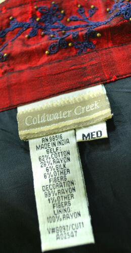 M Nuovo Artsy Cappotto Giacca Metallic Coldwater Boho Creek Sz Blazer Chic Patchwork 4nPAqqH