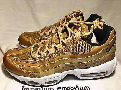 Détails sur Men's Nike Air Max 95 Premium QS Baskets Baskets Chaussures OrBlanc Taille UK 7 afficher le titre d'origine