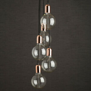 Copper Cluster Pendant Light