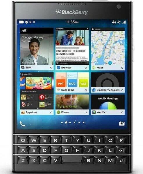 Blackberry Passport Passport 32gb Black Unlocked Smartphone For Sale Online Ebay