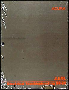 1999 Acura 3 5 Rl Electrical Troubleshooting Manual Wiring Diagrams 3 5rl Oem Ebay