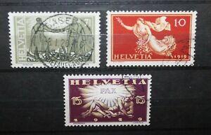 SVIZZERA-SWITZERLAND-1919-034-PEACE-CELEBRATIONS-034-TIMBRATI-USED-SET-CAT-A