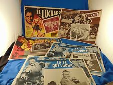 8 Vtg movie posters art Spanish Knockout Monkey on My Back Big Punch Boxing Ring