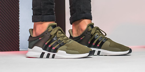 super popular 04ef3 f8989 Image is loading adidas-EQT-Support-Adv-91-16-Olive-Cargo-