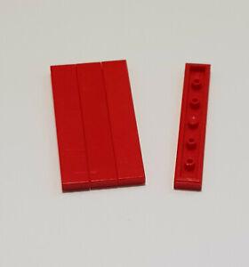 LEGO Fliese 1 x 6 4 x dunkelrot neu 6636