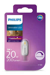 Philips-LED-20W-G4-Dimmable-Capsule-Light-Bulbs-A-200lm-12v-Warm-White-2700K