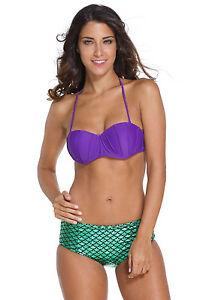 Ariel Concha Escamas Bañador Bikini Con Sirena Mermaid De Original Pequeña Detalles cJK1lF