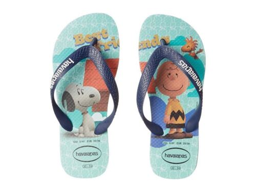 Havaianas Snoopy Ice Blue Kids Children Flip Flops Sandal all Sizes