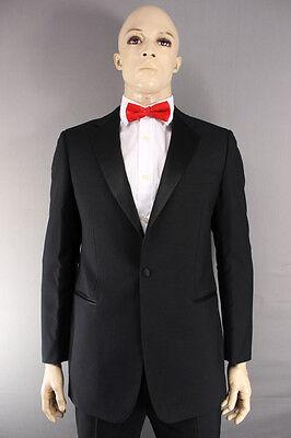 Ex Hire Wool Blend Single Button Black Formalwear Tuxedo Dinner Jacket 38-50 In Ein Unbestimmt Neues Erscheinungsbild GewäHrleisten