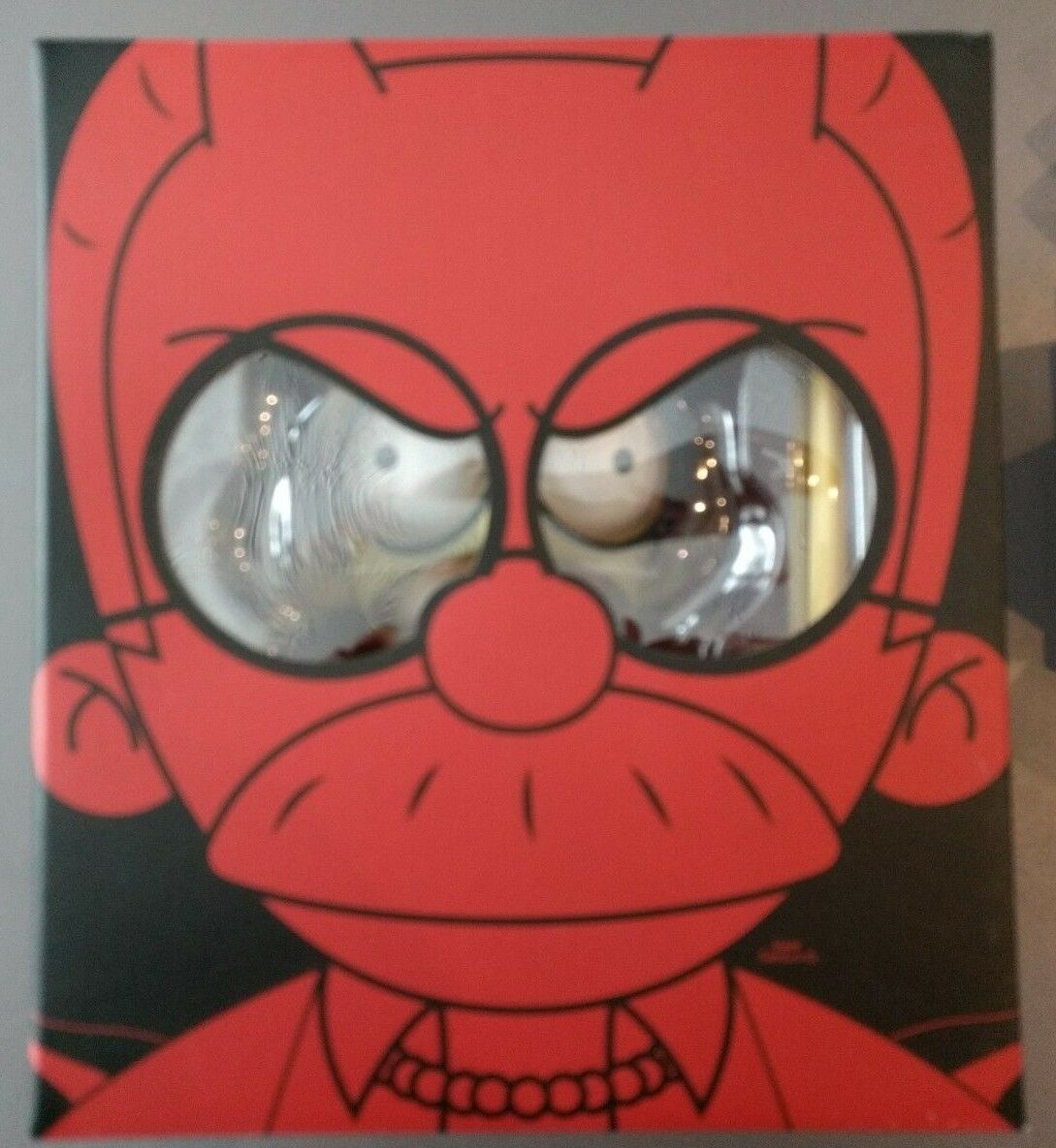 Kidrobot The Simpsons Devil Flanders 7  GID Glow in Dark Limited 1/500 Nuovo