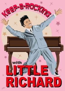 Little Richard - Fifties style poster - (signed) Art Print - Jarod Art
