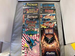 BATMAN-COMIC-BOOK-LOT-OF-10-DARK-KNIGHT-NO-438-437-445-621-441-415-414