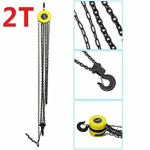 Heavy duty 2 ton chain hoist load lifting block tackle for 1 4 ton chain motor