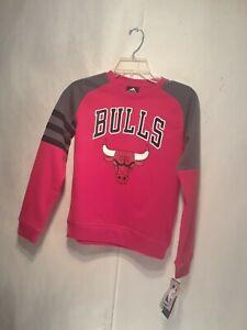 Details about Chicago Bulls Adidas NBA Basketball Sweatshirt Boys Small 8 Brand New