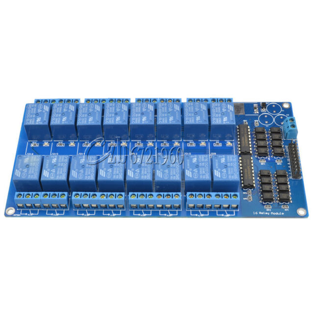 16 Channel 5V Relay Shield Module With Optocoupler Arduino
