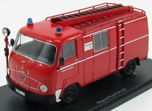 AUTOCULT 1/43 MAGIRUS   FAUN F24 LF8 VAN TRUCK FIRE ENGINE 1964 WITH SCALA   RED