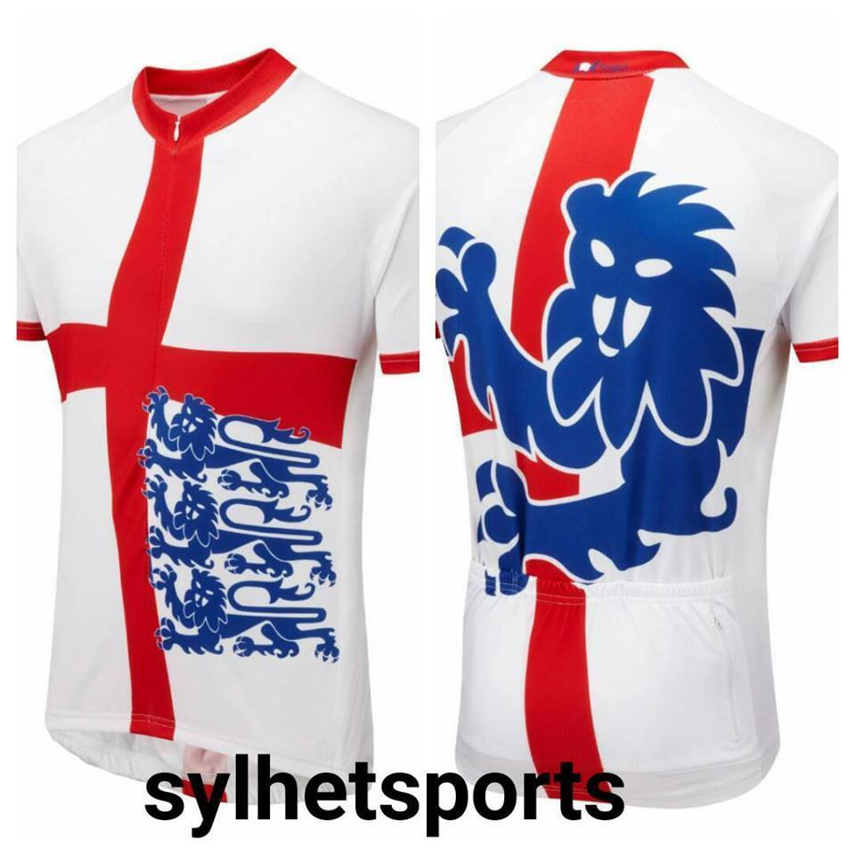 Genuine Foska England  Three Lions Classic Road Cycling Jersey, Men's  factory direct sales