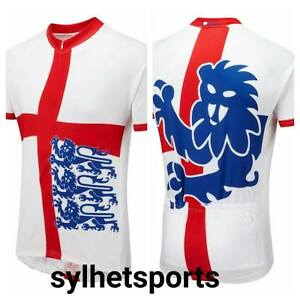 Genuine Foska England Three Lions Classic Road Cycling Jersey, Men's