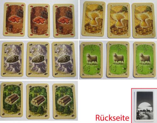 Siedler von Catan 100/% 154 Karten Komplett Basis Spiel ° Erweiterung 5!6 Spieler