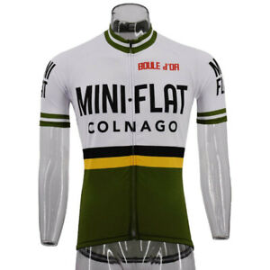 COLNAGO-MINI-FLAT-Retro-Cycling-Jersey-Road-Bike-Clothing-MTB