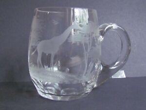 ROLAND-WARD-NAIROBI-KENYA-SAFARI-GLASS-TANKARD-MUG-GIRAFFE-Ref5325