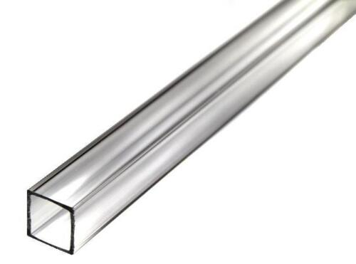 """Clear 36/"""" Acrylic Square Tube Nominal - 7//8/"""" ID x 1/"""" OD x 1//16/"""" Wall"""