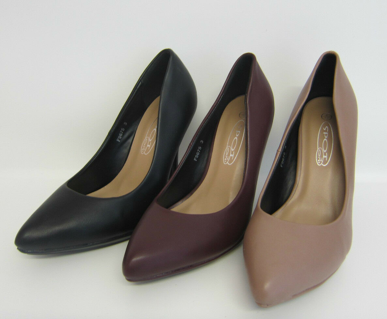 f9675- femmes Spot On Escarpin 3 MAT couleurs- Super prix