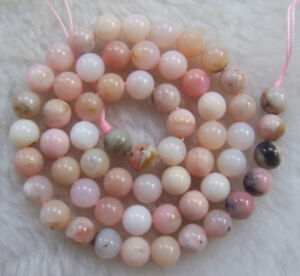 4mm-6mm-8mm-10mm-12mm-14mm-Natural-Pink-Opal-Round-Loose-Beads-15-5-034