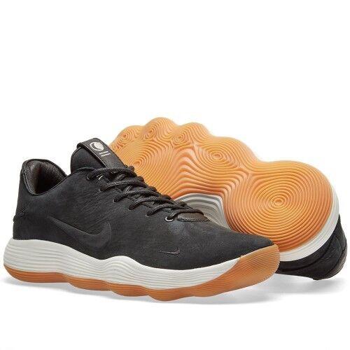 Nike Nubuck Hyperdunk 2018 baja limitada Qs Sz 8.5 Negro Nubuck Nike Goma Blanco 897636-900 f81ff1
