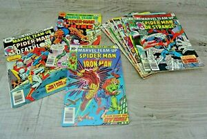 Marvel-Comics-Team-Up-70-039-s-Graphic-Comic-Book-Bundle-Issues-46-58-Spiderman