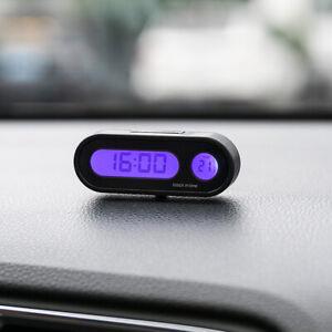 Coche-Digital-LCD-Electronico-Time-Clock-Termometro-Reloj-Con-Luz-De-Fondo-12V