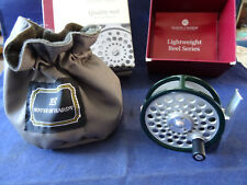 MEGA RARE UNUSED HARDY TEALWEIGHT 1 BROOK TROUT FLY REEL + POUCH AND BOX