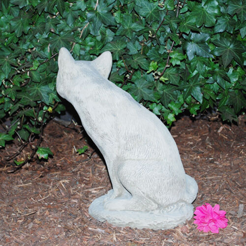 Steinfigur Fuchs Sandstein Gartenfigur Statue Deko Steinguss 503